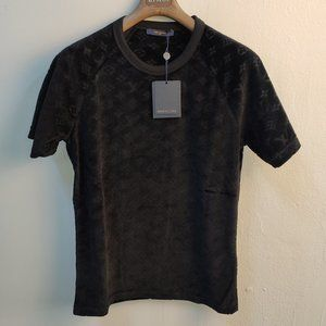 "Louis Vuitton Men Black Towel Fabrick T-Shirt ""M"""